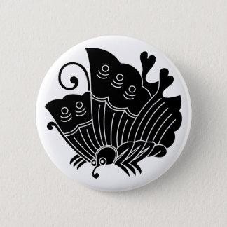 Agehaの蝶 5.7cm 丸型バッジ
