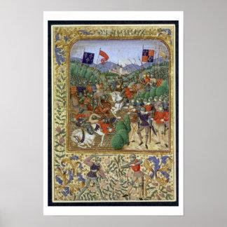 Agincourtの戦い、1415年10月25日(w/c papで ポスター