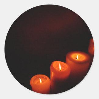 Aglow蝋燭 ラウンドシール