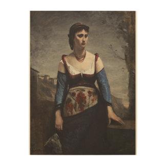 Agostina 1866年 ウッドウォールアート