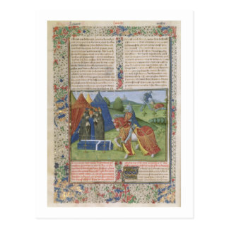 Agravain (vellu氏115 f.425v Lancelotの殺害の 葉書き