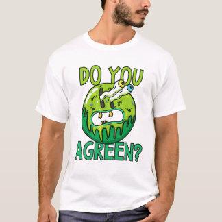 Agreenか。 言葉遊びのTシャツ Tシャツ
