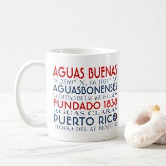 Aguas Buenas、プエルトリコ コーヒーマグカップ