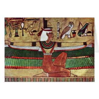 Ägyptischer Maler Um 1360年著女神Isis、 カード