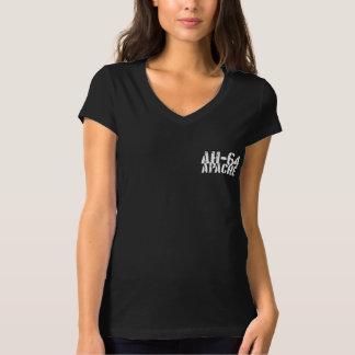 AH-64アパッシュの女性のBellaジャージーのV首のTシャツ Tシャツ