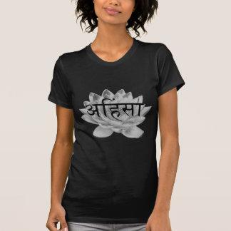 Ahimsaのはすの花 Tシャツ