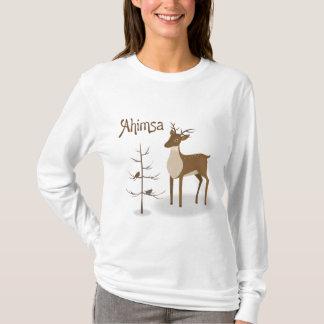 Ahimsaの休日のトナカイ Tシャツ