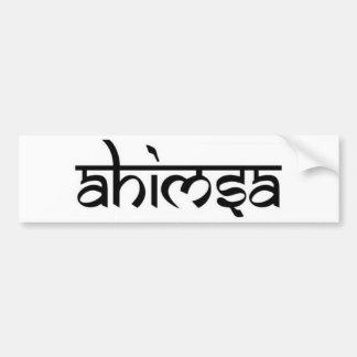 Ahimsa - अहिंसा -仏教の主義 バンパーステッカー