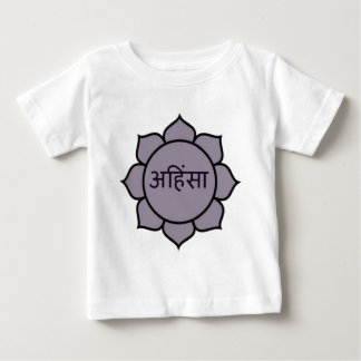 ahimsa (はす) .jpg ベビーTシャツ