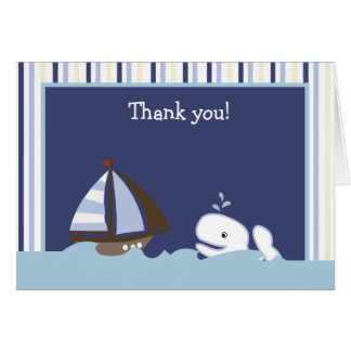AHOY折られる仲間の白いクジラはノート感謝していしています カード