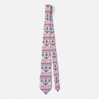 AHOY航海のなニットのクリスマスのジャンパーのスタイル ネクタイ