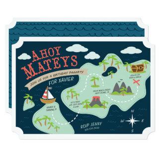 Ahoy Mateysの誕生日の招待 12.7 X 17.8 インビテーションカード
