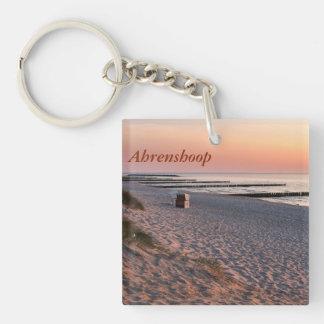 Ahrenshoopのビーチの日没 キーホルダー