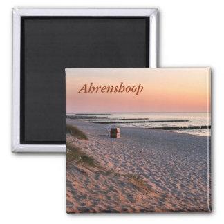 Ahrenshoopのビーチの日没 マグネット
