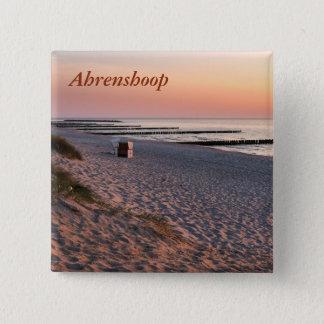 Ahrenshoopのビーチの日没 缶バッジ