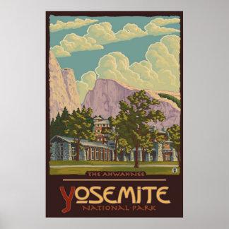 Ahwahneeロッジ-ヨセミテ国立公園旅行ポスター ポスター