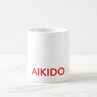 AikidoKanjiの合気道のコーヒー・マグ コーヒーマグカップ