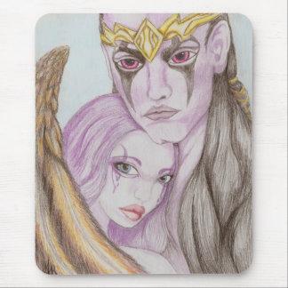 AION Asmodianの天使の妖精のカップル愛マウスパッド マウスパッド