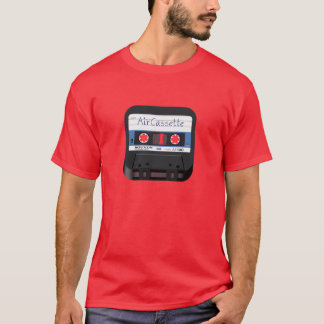 AirCassetteアイコン暗いTシャツ(人) Tシャツ