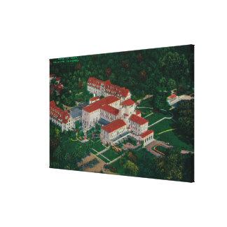 airDel Monte、カリフォルニアからのホテルDel Monte キャンバスプリント
