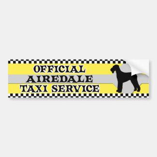 Airedaleのタクシーサービスバンパーステッカー バンパーステッカー