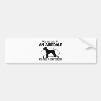 AIREDALEの親友のデザイン バンパーステッカー