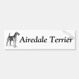 Airedaleテリアのバンパーステッカー バンパーステッカー