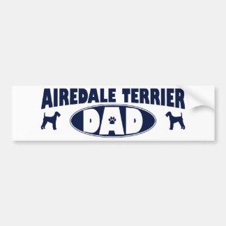 Airedaleテリアのパパ バンパーステッカー
