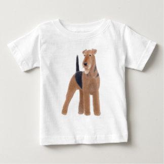 Airedaleテリアの乳児のTシャツ ベビーTシャツ