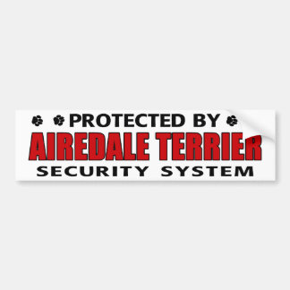 Airedaleテリアの保証 バンパーステッカー