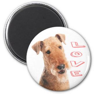 Airedaleテリアの小犬愛磁石 マグネット