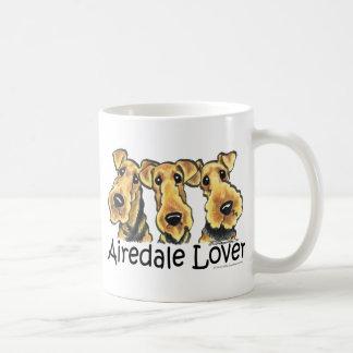 Airedaleテリアの恋人 コーヒーマグカップ