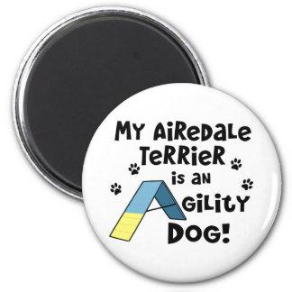 Airedaleテリアの敏捷犬の磁石 マグネット