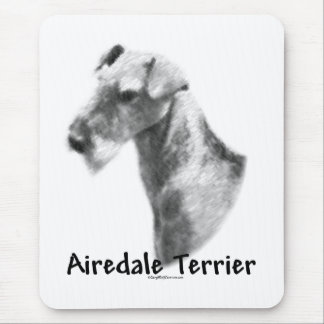 Airedaleテリアの木炭 マウスパッド