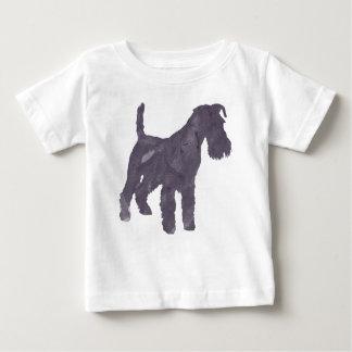 Airedaleテリアの水彩画 ベビーTシャツ