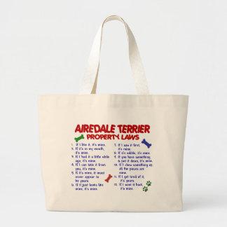 AIREDALEテリアの特性の法律2 ラージトートバッグ
