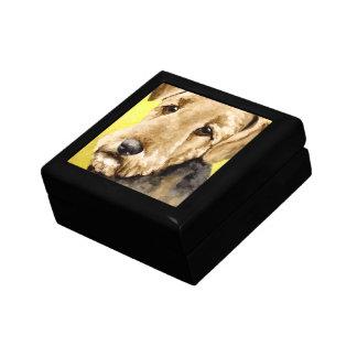Airedaleテリアの記念品箱 ギフトボックス