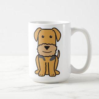 Airedaleテリア犬の漫画 コーヒーマグカップ
