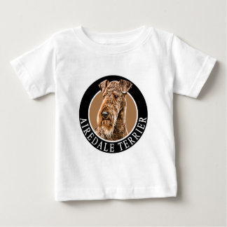 Airedaleテリア002 ベビーTシャツ