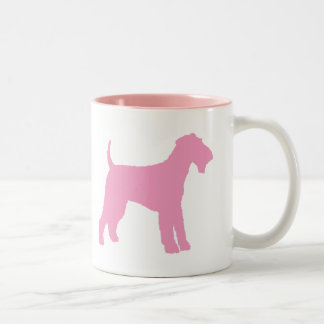 Airedaleテリア(ピンク) ツートーンマグカップ