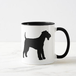 Airedaleテリア(黒) マグカップ
