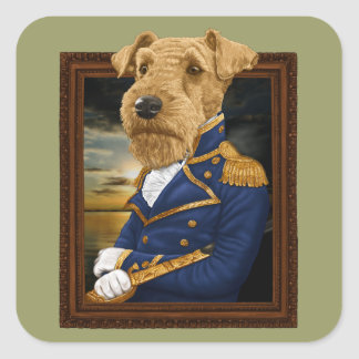 Airedale Terrier スクエアシール