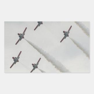 airshowの平らな構成 長方形シール