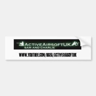 Airsoftの活動的なバンパーステッカー バンパーステッカー