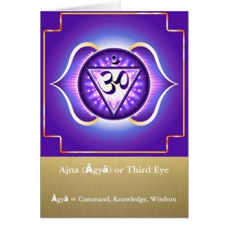 Ajna (Āgyā)または松果眼のチャクラの挨拶状 グリーティングカード