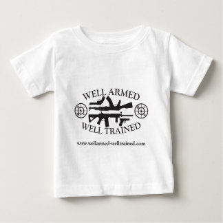 /AkのベビーのPrepperの健康な武装したよく訓練されたワイシャツ ベビーTシャツ