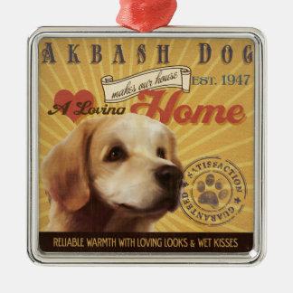 Akbash愛情のある犬は私達の家の家を作ります メタルオーナメント