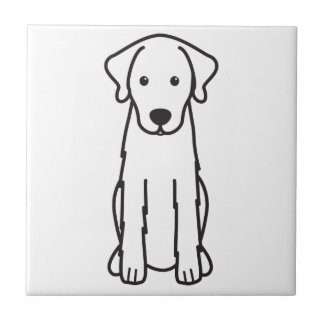Akbash犬の漫画 正方形タイル小