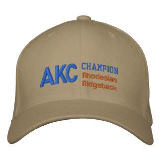 AKCのチャンピオンのRhodesian Ridgebackの帽子 刺繍入りキャップ