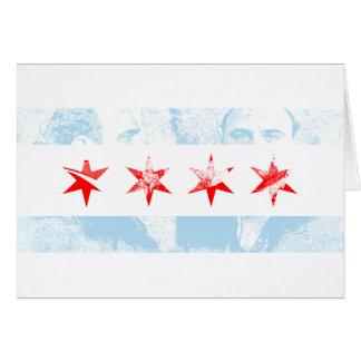 AlのCaponeシカゴの旗 カード